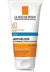 La Roche-Posay Anthelios Activewear Lotion Sport Body & Face Sunscreen Broad Spectrum SPF 60, Oxybenzone Free, Water Resistant, 5 Fl. oz.