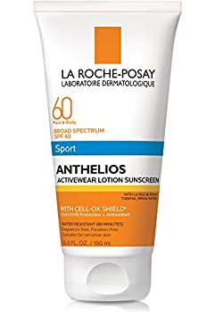 La Roche-Posay Anthelios Activewear Lotion Sport Body & Face Sunscreen Broad Spectrum SPF 60 Oxybenzone Free Water Resistant 5 Fl oz.