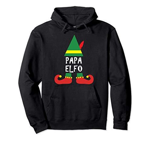 Ropa de Navidad para Familia - Papa Elfo Sudadera con Capucha