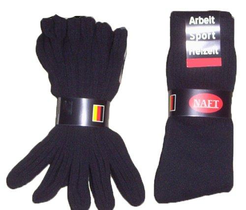 r-dessous 30 Paar Damen Herren Socken Sportsocken Tennissocken Arbeitssocken Baumwolle Freizeitsocken schwarz Groesse: 47-50