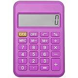 ZMKM. Calcolatrice Electronic Desktop con Display a 8 cifre Display LCD Mini Ufficio calcolatore per Ufficio Test Studenti Regalo per Bambini (Color : Purple)