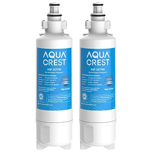 2 x AQUACREST 257760 Kühschrank Wasserfilter, Kompatibel mit Panasonic CNRAH-257760 125950 NR-B53V1 NR-B53V1-WB/X1D NR-BG53V2 NR-BG53VW2 NR-B53V2-XE NR-B54X1-WB/E EcoAqua EFF-6032B AH-PCN (2)