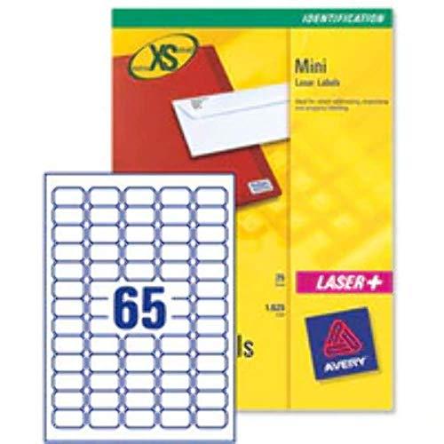 Avery España J8651-25.Caja de 1625 Etiquetas Blanca Adhesivas,38.1x21.2mm,Inkjet