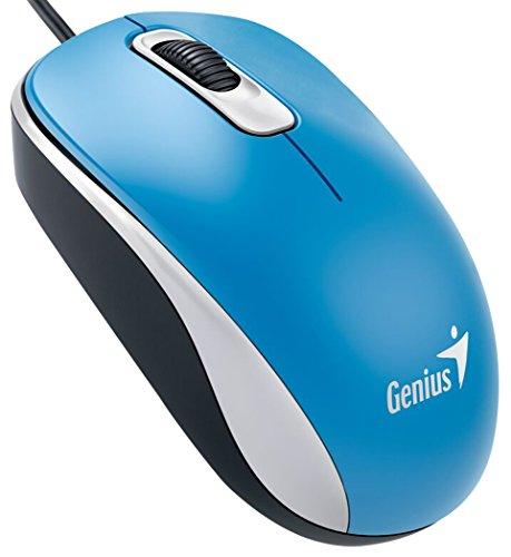 Genius DX-110 USB Óptico 1000DPI Ambidextro Azul - Ratón (USB, Oficina, Botones presionados, Rueda, Óptico, 1000 dpi)