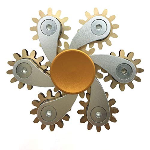 Crabitin Hand Spin Sprockets Spinner Magic Flywheel Fingertip Toys Anti Anxiety and Stress Relief Sprocket Chains Decompression Fingertips Toy Fingertip Gyro Sprocket Flywheel Fingertip Toy