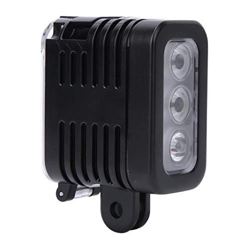 Cosiki Wasserdichtes Fülllicht, Schießlicht, LED-Tauchvideolampe, wiederaufladbarer Unterwasserakku für Gopro für Live-Stream YouTube Vlogging