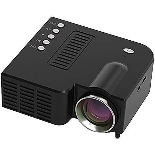 Tragbarer Mini 3D Beamer Verdrahtet HD Mini Projektor mit gleichem Bildschirm Mini Movie Videoprojektor (Schwarz)