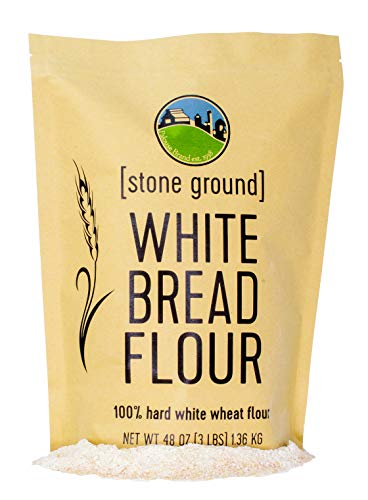 Hard White Wheat Flour • Non-GMO Project Verified • 3 LBS • 100% Non-Irradiated • Certified Kosher Parve • USA Grown • Field Traced • Resealable Kraft Bag