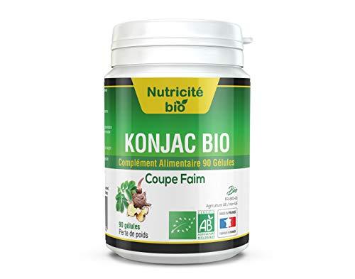 Konjac Bio coupe faim 90 gelules - Une aide minceur efficace à court terme - Konjac detox amincissant - Le meilleur du bio certifié AB