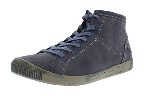 Softinos Damen Sneakers Isleen, Frauen High Top Sneaker,lose Einlage, Freizeit sportschuh Sneaker-Stiefelette,Blau(Navy),42 EU / 8 UK