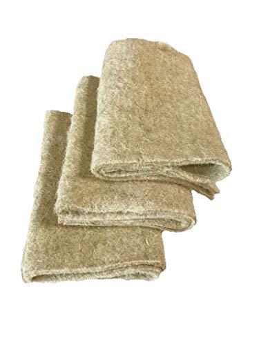 Anzuchtmatte aus 100% Hanf, 100 x 40 cm, ca. 1 cm dick, 3er Pack (EUR 6,30/Stück), Matte geeignet zur Anzucht von z.B. Kresse und Keimsprossen (Microgreens), 100% biologisch abbaubar, Hanfmatte