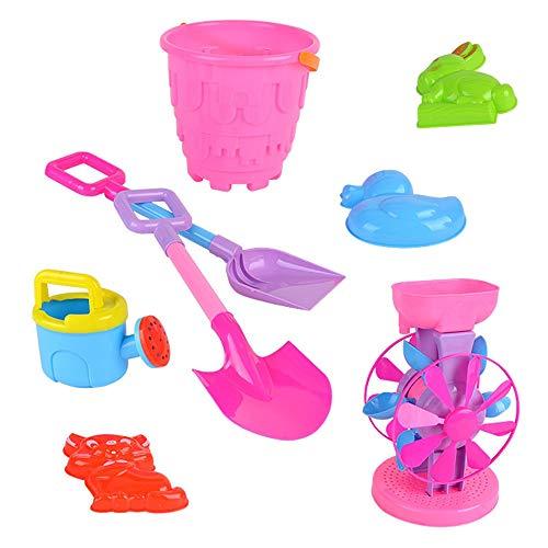 Jeu Cerveau for Tout-Petits garçons Filles 3 Ans et Plus Grande avec Hourglass Plage Seau ATV 8 Piece Set Toy Early Education Learning Toy