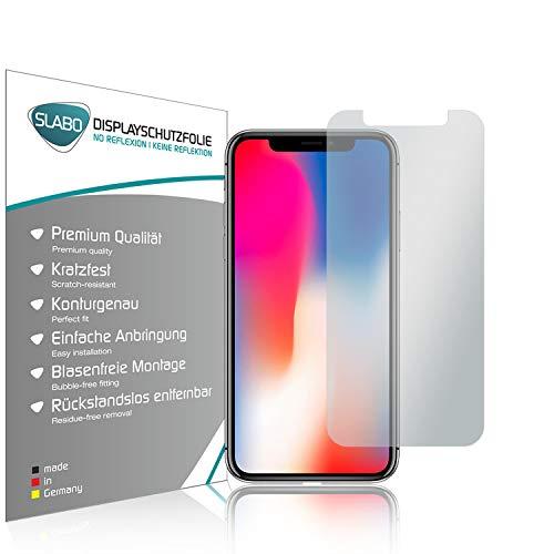 Slabo 4 x Bildschirmschutzfolie kompatibel mit iPhone X | iPhone XS | iPhone 11 Pro Bildschirmfolie Schutzfolie Folie Zubehör No Reflexion MATT - entspiegelnd Made IN Germany