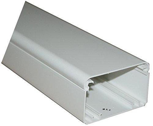 8m Kabelkanal 100x60mm reinweiß Kunststoffkanal Verdrahtungskanal Leitungskanal mit Deckel PVC Kanal Brüstungskanal