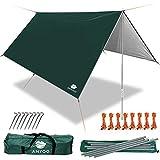 Anyoo Ripstop Rain Tarp Parasol Compact Léger Abri Étanche pour Camping Randonnée Backpacking...