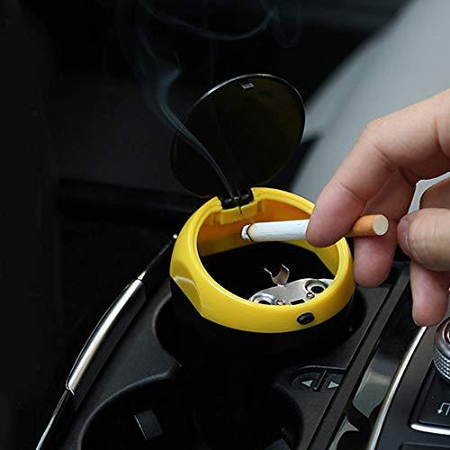Clmaths Piezas de automóviles -2113 Coche Universal portátil ABS de Basura Cubo de Basura Cenicero Are (Color : Color2)