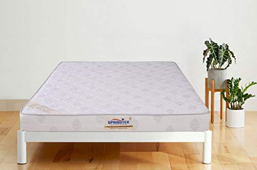 Springtek Luxury Boom-Health 5 inches Coir Foam King Size Mattress (White, 72x72x5)