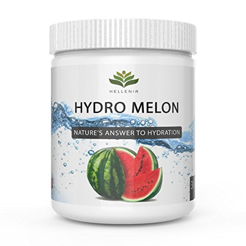 Hellenia Hydro Melon - 300g - Watermelon Hydration Powder - Rehydration Drink - Electrolyte Replenishment