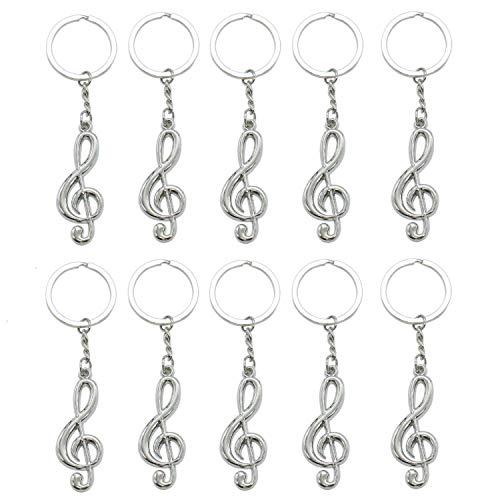 Bhbuy Fashion Cool Musical Note Key Ring Keyfob Keyring Music Symbol Keychain Gift New