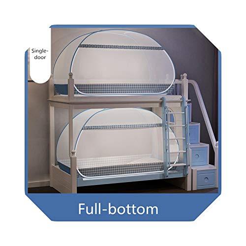 Student Etagenbett Moskitonetz Eintüriges Schlafsaal-Netzdach Faltbares mongolisches Jurten-Moskito-Vorhang-Studentenbett Zelt 1PC-Blau 1PC-1 m (3,3 Fuß) Bett