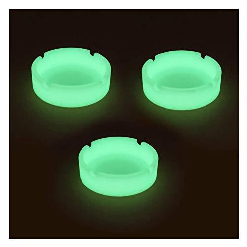 CZX Luminoso Silicona cenicero Premium de Goma de Silicona Alta Temperatura Resistente al Calor Resistente al Calor cenicero Duradero Brillo-3 Paquete