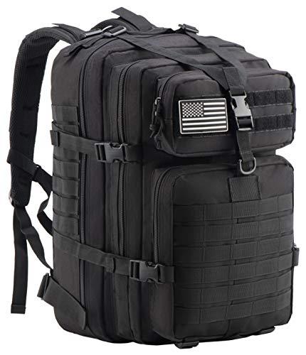 Luckin Packin Military Tactical Backpack, Molle Bag, Rucksack Pack, 45 Liter Large Black