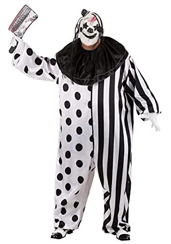 Killer Clown Plus Size Costume 4X White