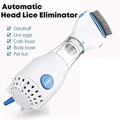 Pettine elettrico per pidocchi con V-Comb – Soluzione per pidocchi senza prodotti chimici – Rimozione di pidocchi auto Head elimina elettrico per animali domestici