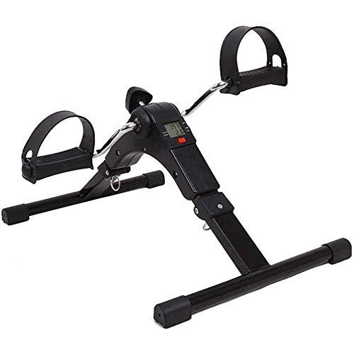 YF-SURINA Equipo de ejercicios de interior Mini ejercicio de bicicleta de ejercicios Pedal de ejercicios Plegable con pantalla LCD electrónica Ajuste de brazo y pierna Cuerpo Ejercicio portátil Bicic