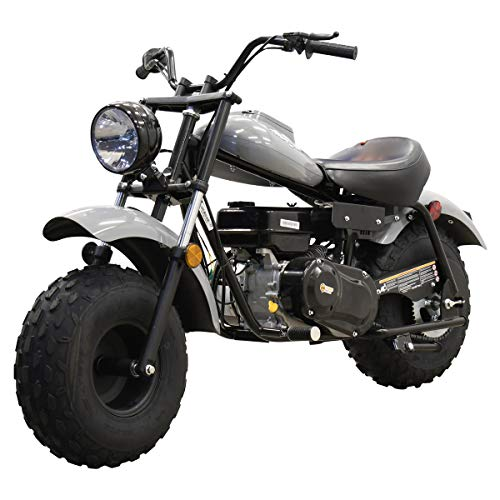 Massimo Motor Warrior200 196CC Engine Super Size Mini Moto Trail Bike MX Street for Kids and Adults Wide Tires Motorcycle Powersport CARB Approved (Gray)