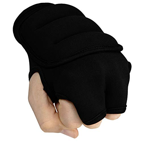 Title Weighted Gloves, Black, 3 lbs