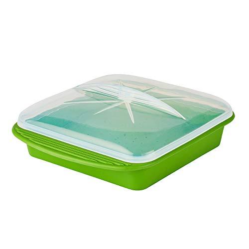 Mastrad Papillote Minute - Mikrowellendose und Gefrierdose Lunchbox - luftdichte Tupper Frischhaltedose - gefrierfachgeeignet und mikrowellengeeignet - zur Aufbewahrung von Lebensmitteln