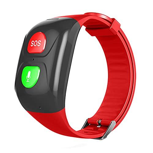 URJEKQ Reloj Inteligente de Fitness para Hombre y Mujer con GPS Impermeable IP67 Reloj Deportivo calorías rastreador de Actividad,Rojo