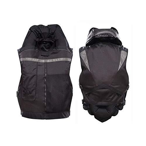 YXYECEIPENO Gilet Airbag Moto Cyclisme Gilet De Cylindre De Moto Gâchette Mécanique, Plein D'airbag en 0,5 Seconde Réduisez L'impact pour Protéger Votre Sécurité (sans Bouteille De CO2)