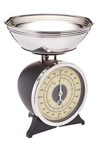Kitchen Craft Classic Collection Mechanische Küchenwaage, 2 kg, emailliert, schwarz