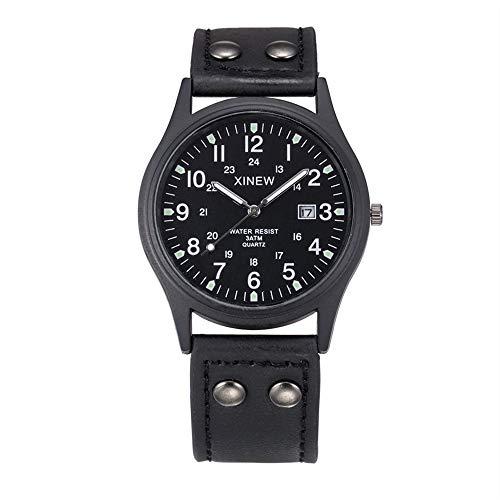 ZHANGZZ Orologio Vigilanza di alta-end, Orologio sportivo cinturino in gomma da uomo di marca 骷髅 镂 orologio al quarzo da tavolo vuoto (Color : 1)