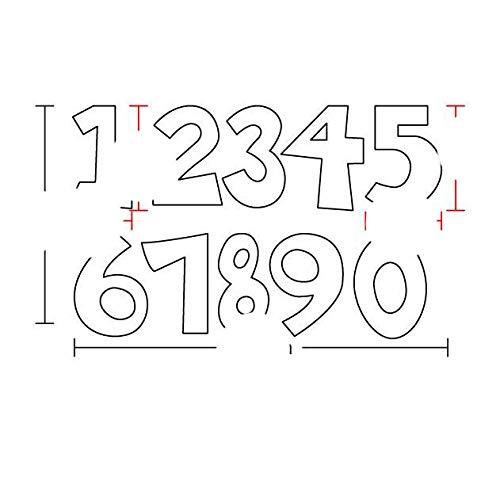 Craft Dies Metal Cutting Dies Alphabet Letters Numbers 2021 Stencils Dies for Dies Decorative Embossing die cut-SK0304