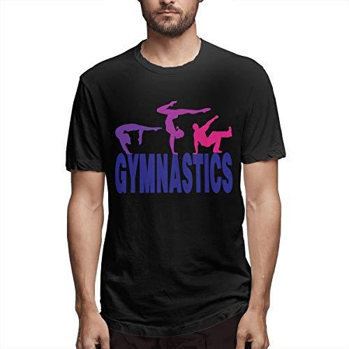 ZSMJ GYM Summernastics - Camiseta deportiva de manga corta para hombre