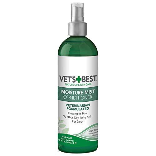 Vets Best BestBest Moisture Mist Dog Dry Skin Conditioner und Detangler Spray, Lindert juckende Haut, Erfrischt & beruhigt, 470ml
