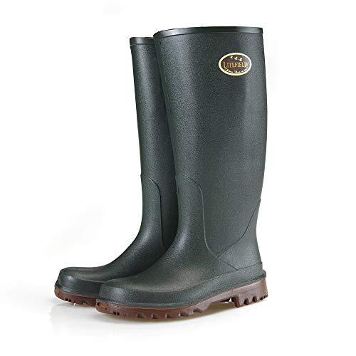 Bekina Wanderstiefel Herren und Damen mit Einlegesohle für trockene & warme Füße, rutschfest, federleicht, isolierend bis - 20 Grad, Grün, Größe 42