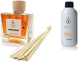 Ricarica profumatore ambiente da 500ml con bottiglia di 500 ml profumazione Vaniglia e Zenzero profumo per casa ufficio pe...
