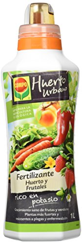 COMPO Fertilizante para todo tipo de frutas y verduras, Fertilizante líquido natural, 1 litro