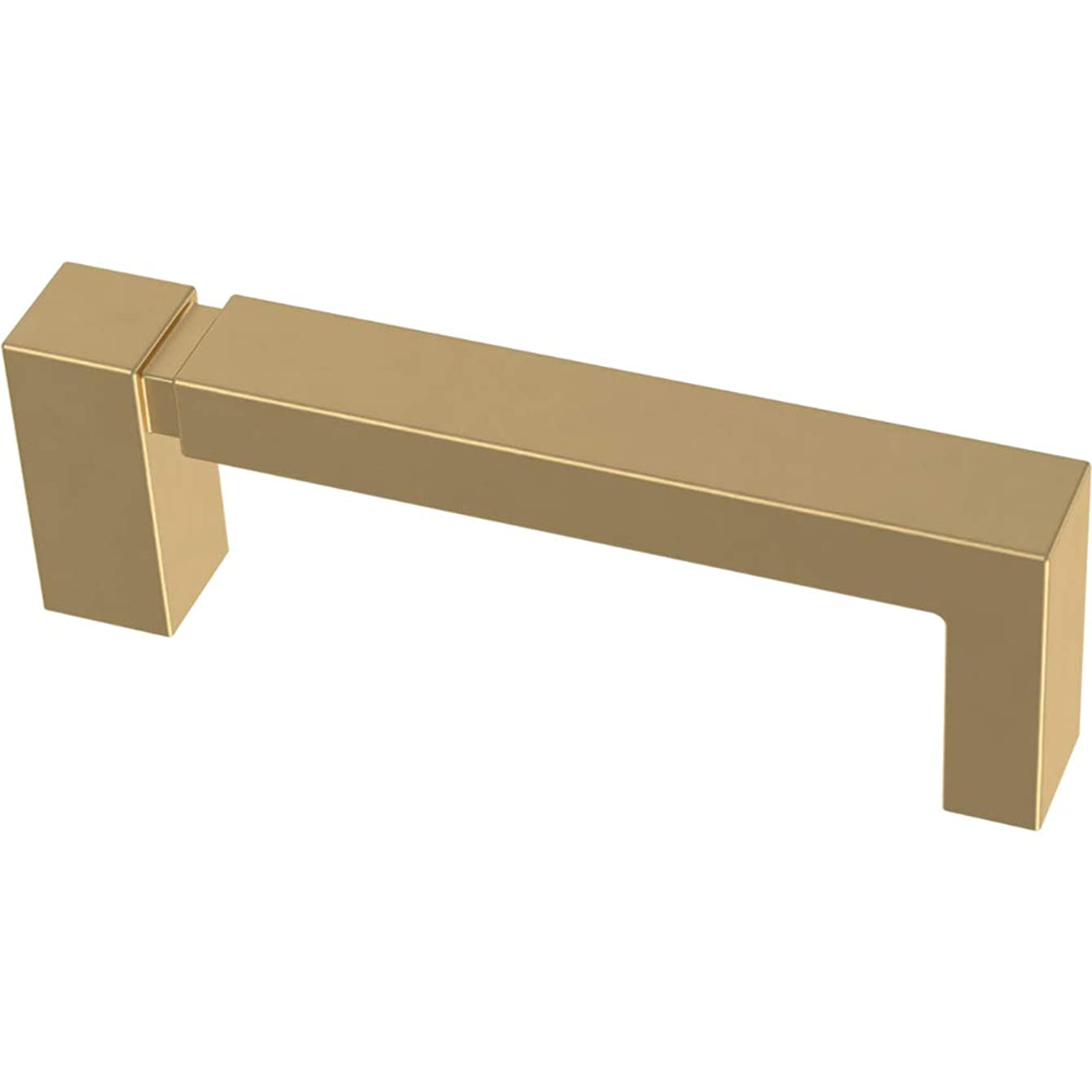 Franklin Brass P40822K-117-C Asymmetric Notched Kitchen or Furniture Cabinet Hardware Drawer Handle Pull, 3-Inch (76mm), Brushed Brass, 10-Pack