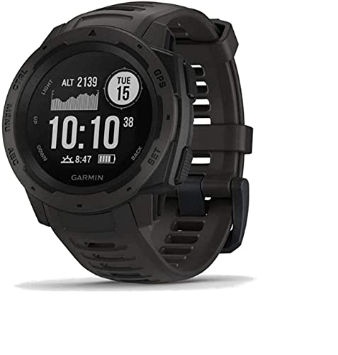 Garmin 010-02064-00 Instinct, Rugged Outdoor Watch with GPS, Features GLONASS and Galileo (Renewed)