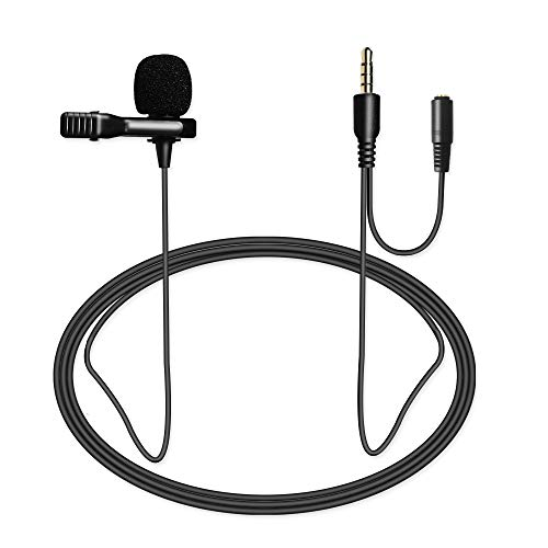 Nicama LVM4 Lavalier Micrófono de Solapa con Parabrisas Muff para Grabación vídeo iPhone Android Smartphone YouTube / ENTREVISTA / Conferencia / Podcast