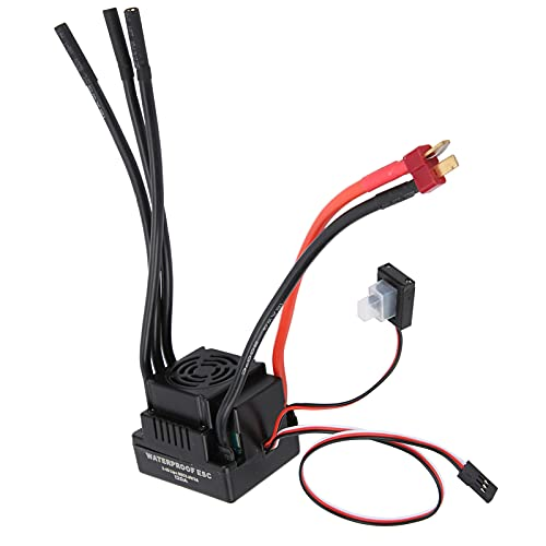 Longzhuo 120A ESC Electronic, 120A RC Brushless Impermeable Controlador de Velocidad electrónico ESC para 1/8 1/10 RC Car