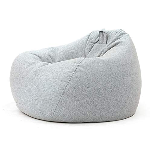 Bean Bag Lounge Sofa Granules Filled Kids/Adult Comfortable Living Room Recliner Bag Chair Cushions Sectional Sofa Multi-size (Color : Gray, Size : S)