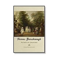 ヴィンテージトマスゲインズバラポートレートポスターとプリント絵画ホームフレームレス装飾キャンバス絵画A120x30cm