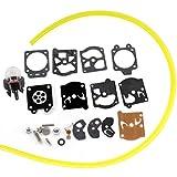 HURI Kit di riparazione per carburatore D10-WAT membrana set e primer Bulb tubo benzina adatto per WALBRO WA WT Dolmar Solo Husqvarna Echo Homelite McCulloch Stihl Ryobi
