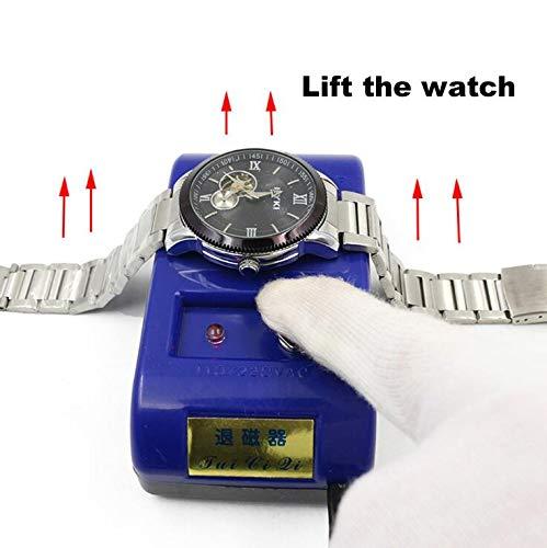Watch Demagnetizer, Watch Repair Screwdriver Tweezers, Watch Repair Kit, Mechanical/Quartz Watch Electrical Demagnetise Demagnetizer Tools,Electrical Tools